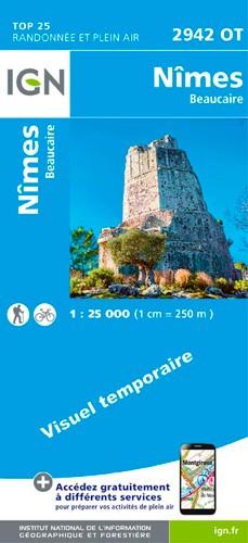 IGN Nîmes / Beaucaire - Carte topographique