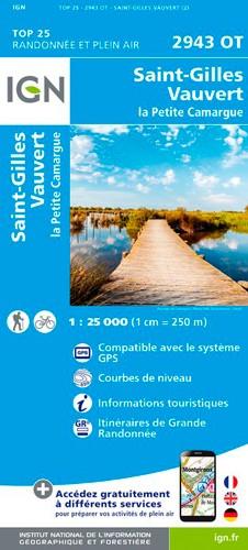 IGN Saint-Gilles / Vauvert / La Petite Camargue - Carte topographique