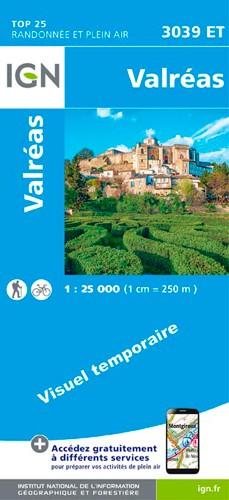 IGN Valréas - Carte topographique
