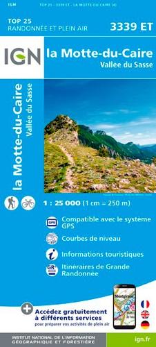 IGN La Motte Du Caire / Vallée Du Sasse - Carte topographique