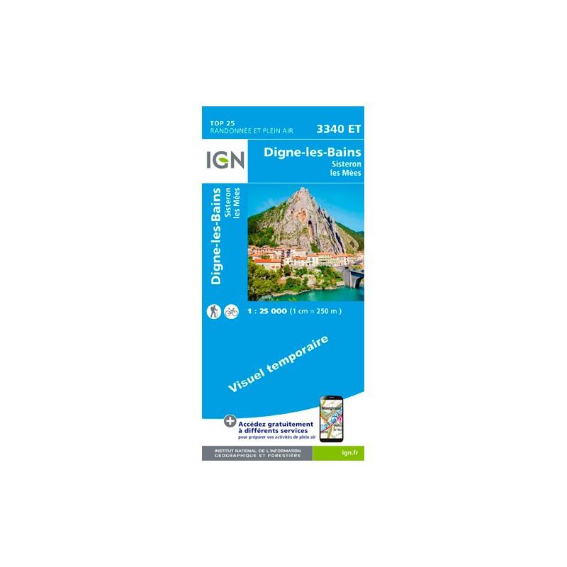 IGN Digne-Les-Bains.Sisteron.Les Mées - Carte topographique