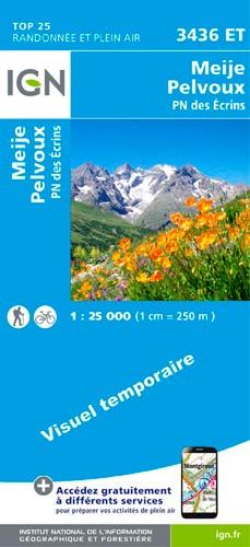 IGN Meije.Pelvoux.Pn Des Ecrins - Carte topographique