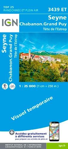 IGN Seyne.Chabanon.Grand Puy.Tête De L'Estrop - Carte topographique