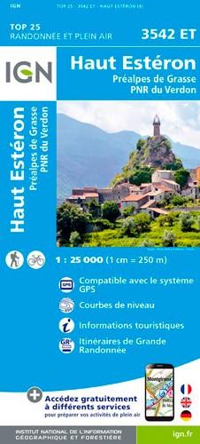 IGN Haut Estéron / Préalpes De Grasse / Pnr Du Verdon - Carte topographique