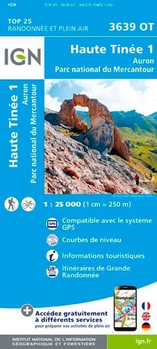 IGN Haute Tinée 1 / Auron / Pn Du Mercantour - Carte topographique