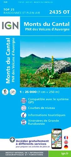 IGN Monts Du Cantal / Pnr Des Volcans D'Auvergne - Carte topographique