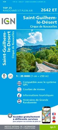 IGN Saint-Guilhem-Le-Désert.Cirque De Navacelles - Carte topographique