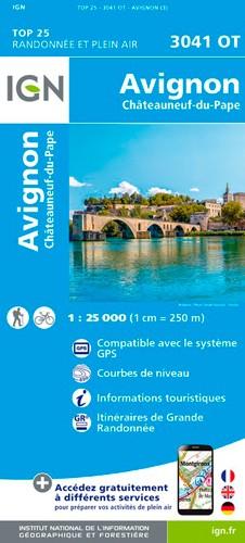 IGN Avignon / Châteauneuf-Du-Pape - Carte topographique
