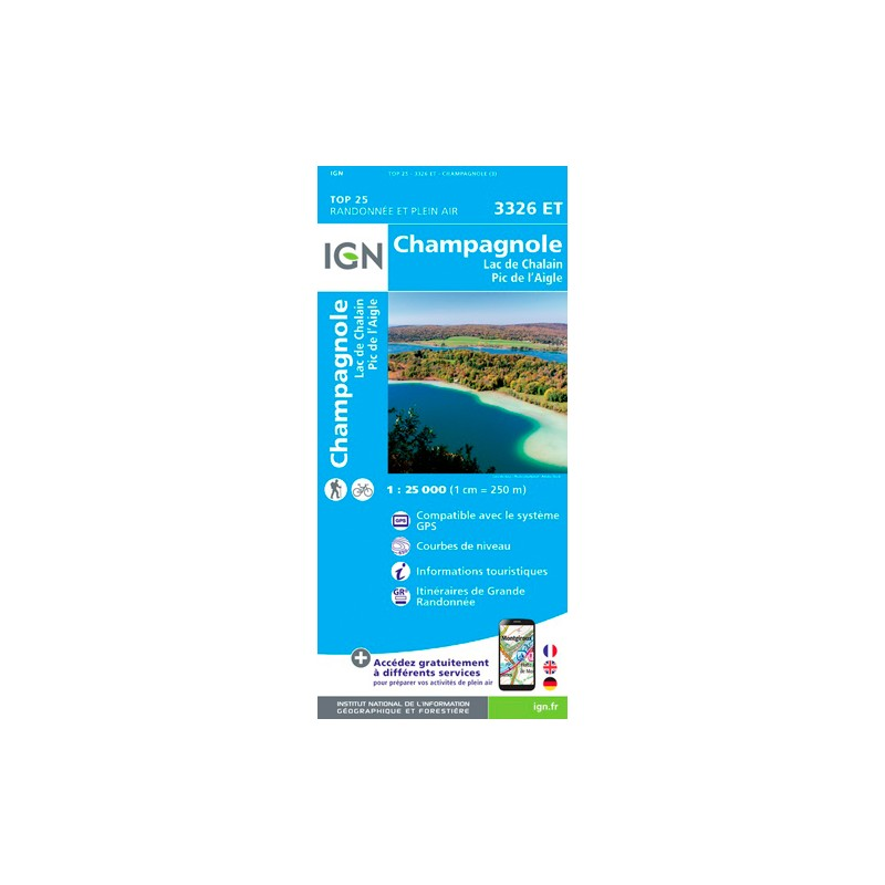 IGN Champagnole.Lac De Chalain.Pic De L'Aigle - Carte topographique