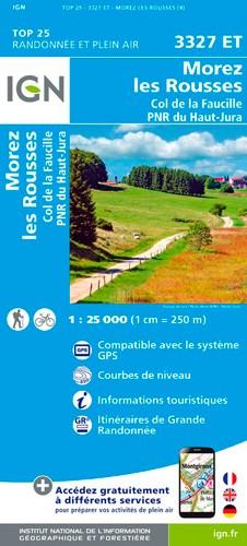 IGN Morez.Les Rousses.Col De La Faucille.Pnr Du Haut Jura - Carte topographique