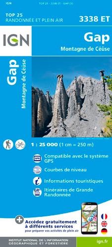IGN Gap.Montagne De Céüse - Carte topographique