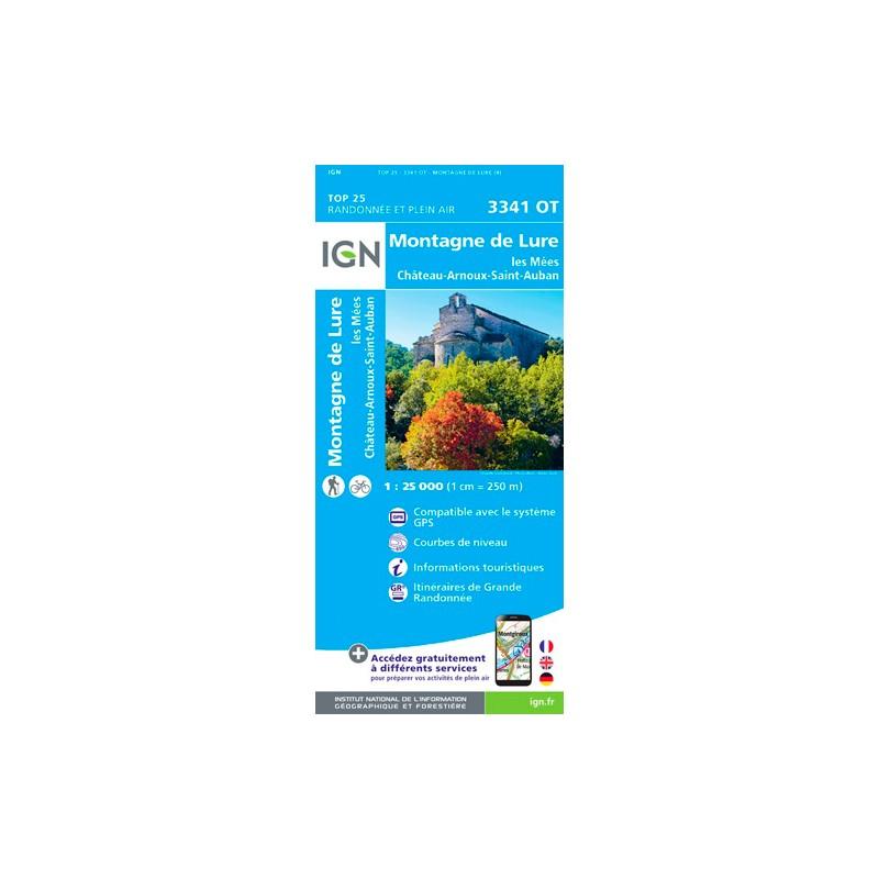 IGN Montagne De Lure.Les Mées.Château-Arnoux - Carte topographique