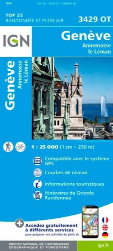IGN Genève.Annemasse.Le Léman - Carte topographique