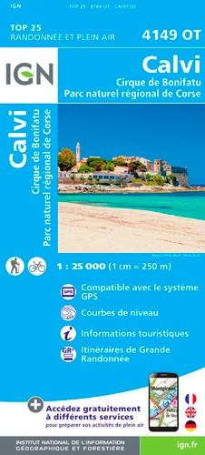 IGN Calvi.Cirque De Bonifatu.Pnr De Corse - Carte topographique