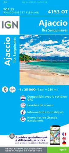 IGN Ajaccio.Îles Sanguinaires - Carte topographique