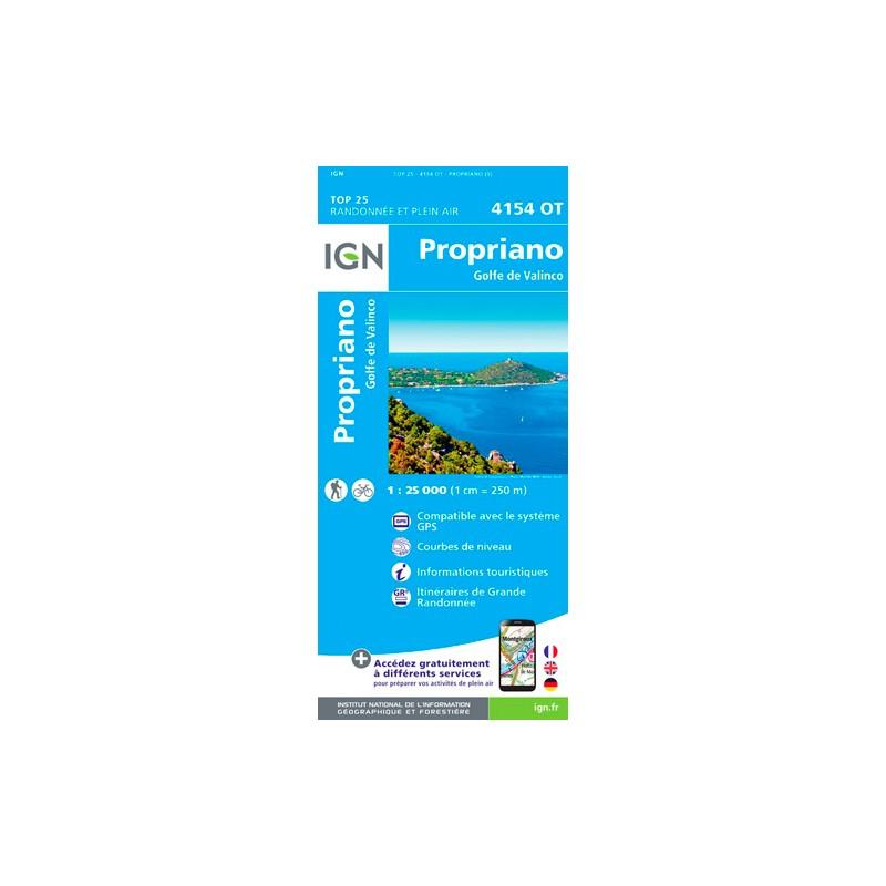 IGN Propriano.Golfe De Valinco - Carte topographique