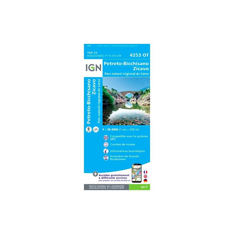 IGN Petreto-Bicchisano.Zicavo.Pnr De Corse - Carte topographique