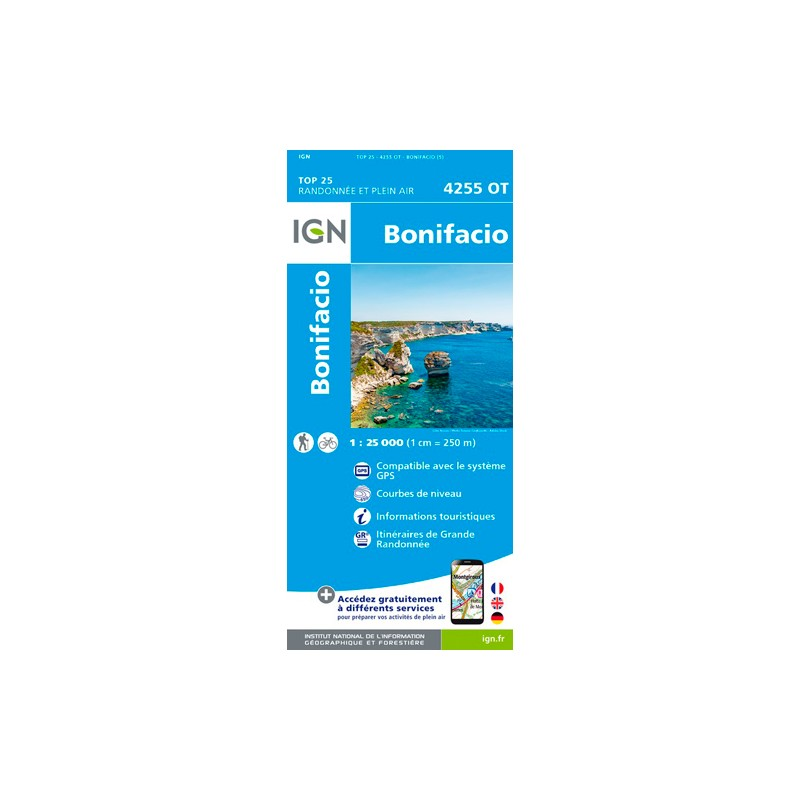 IGN Bonifacio - Carte topographique