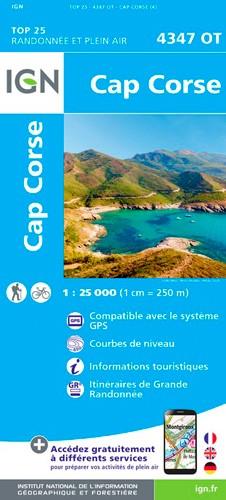 IGN Cap Corse - Carte topographique