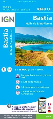IGN Bastia.Golfe De Saint-Florent - Carte topographique