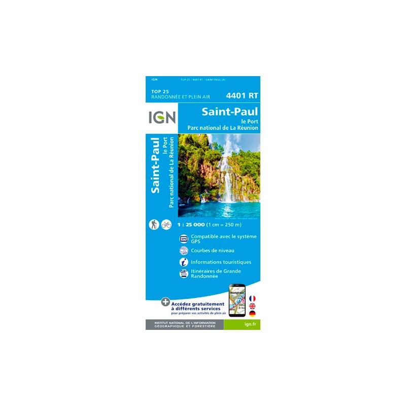 IGN Saint-Paul (Réunion) - Carte topographique