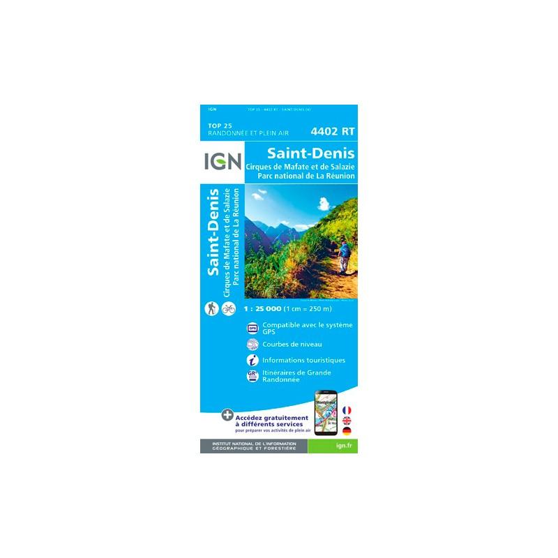 IGN Saint-Denis (Réunion) - Carte topographique