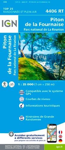 IGN Piton De La Fournaise (Réunion) - Carte topographique