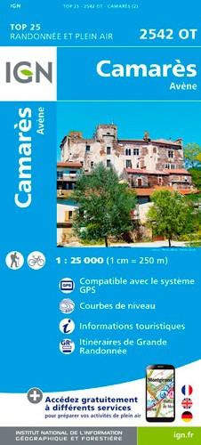 IGN Camarès / Avène - Carte topographique
