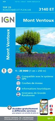 IGN Mont Ventoux - Carte topographique