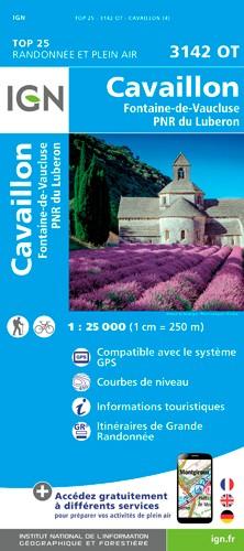 IGN Cavaillon / Fontaine De Vaucluse / Pnr Du Luberon - Carte topographique