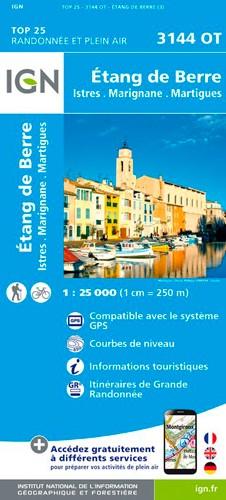 IGN Etang De Berre / Istres / Marignane / Martigues - Carte topographique