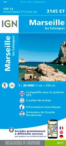 IGN Marseille / Les Calanques - Carte topographique
