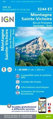 IGN Montagne Sainte-Victoire / Aix En Provence / Gardanne / Trets - Carte topographique