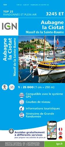 IGN Aubagne / La Ciotat / Massif De La Sainte Baume - Carte topographique