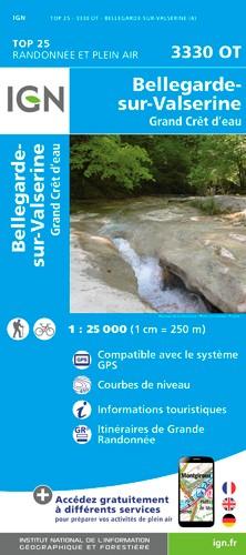 IGN Bellegarde Sur Valserine / Grand Cret D'Eau - Carte topographique