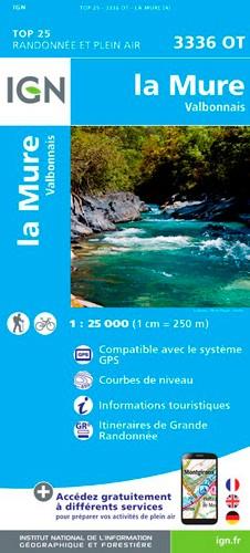 IGN La Mure Valbonnais - Carte topographique