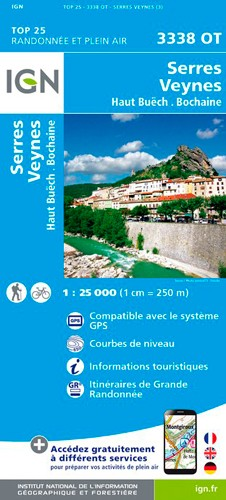 IGN Serres / Veynes / Haut Buëch / Bochaine - Carte topographique