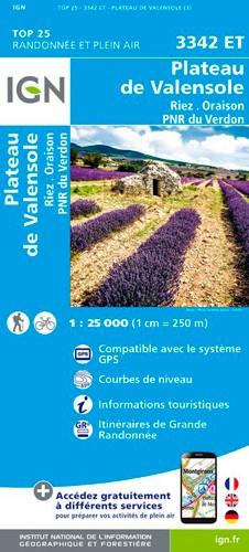 IGN Plateau De Valensole / Riez / Oraison / Pnr Du Verdon - Carte topographique