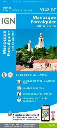 IGN Manosque / Forcalquier / Pnr Du Luberon - Carte topographique