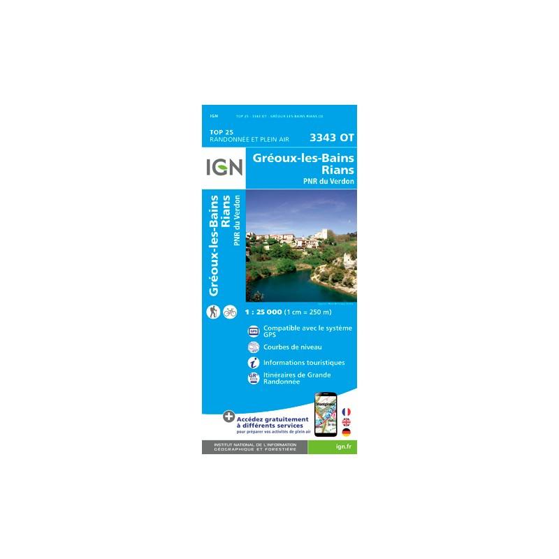 IGN Gréoux Les Bains - Carte topographique