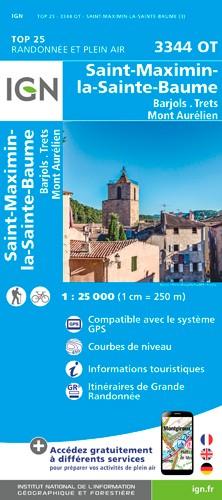 IGN Saint-Maximin-La-Sainte-Baume / Barjols / Trets / Mont Aurelien - Carte topographique