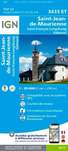 IGN St-Jean-De-Maurienne / St-François-Longchamp / Valmorel - Carte topographique