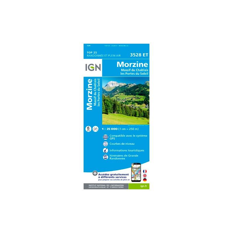 IGN Morzine / Massif Du Chablais / Les Portes Du Soleil - Carte topographique