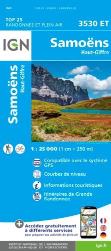IGN Samoëns - Haut Giffre - Carte topographique