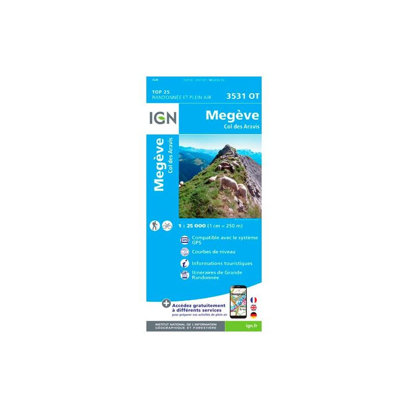 IGN Mégève - Col Des Aravis - Carte topographique