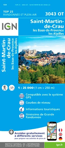 IGN Saint-Martin De Crau / Fontvieille - Carte topographique