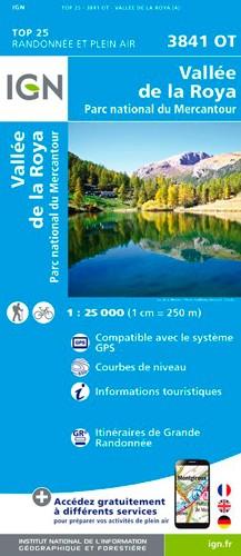 IGN Vallée De La Roya / Vallée Des Merveilles / Pn Du Mercantour - Carte topographique