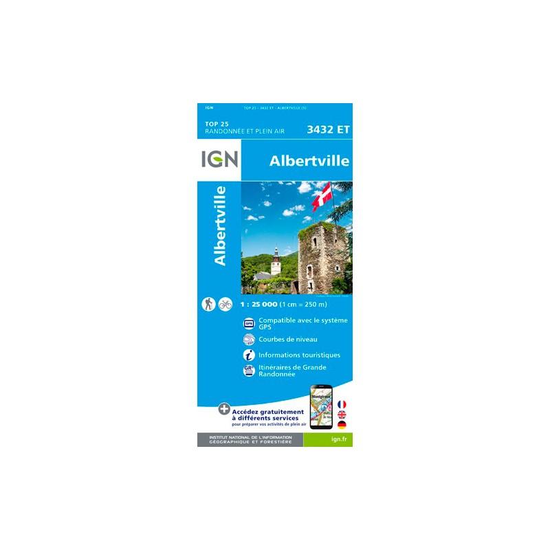 IGN Albertville - Carte topographique