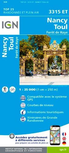 IGN Nancy / Toul / Forêt De Haye - Carte topographique