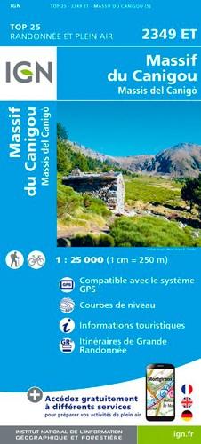IGN Massif Du Canigou - Carte topographique